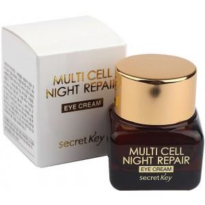 Крем для кожи вокруг глаз SECRET KEY Multi Cell Night Repair Eye Cream 15 мл
