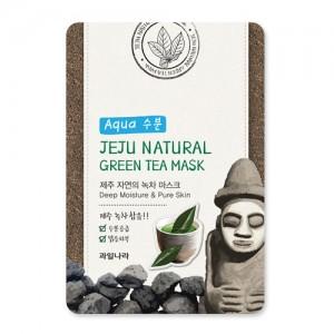 Маска для лица успокаивающая с экстрактом зеленого чая Welcos Jeju Natural Green Tea Mask 20 ml