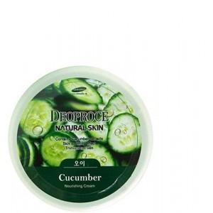 Питательный крем для лица и тела с экстрактом огурца Deoproce Natural Skin Cucumber Nourishing Cream 100 мл