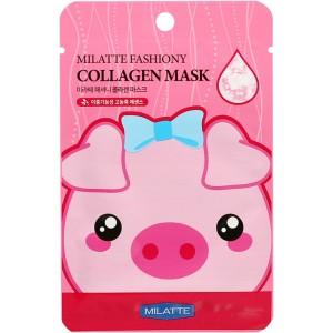 Тканевая маска с коллагеном Milatte Fashiony Collagen Mask Sheet 21g