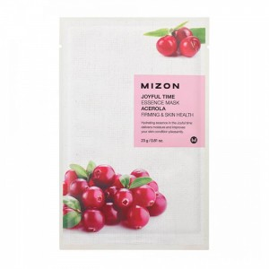 Тканевая маска для лица с экстрактом барбадосской вишни Mizon Joyful Time Essence Mask Acerola 23g