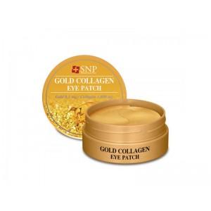 Гидрогелевые патчи с экстрактом коллагена и золота SNP Gold Collagen Eye Patch 60шт