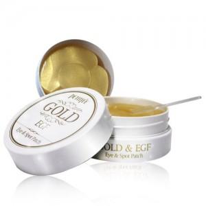 Гидрогелевые патчи для глаз с золотом и EGF - Petitfee Gold & EGF Eye & Spot Patch 90шт