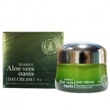 Ночной восстанавливающий крем с алоэ вера DEOPROCE Aloe Vera Oasis Night Cream