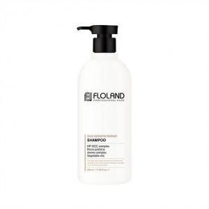 Восстанавливающий шампунь с кератином Floland Premium Silk Keratin Shampoo 530мл